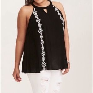 Torrid Embroidered Trapeze Tank